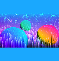 Digital synthwave technology background vector
