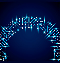 Digital technology background with circuit board vector