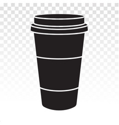 Disposable coffee paper cup flat icon for apps vector