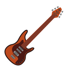 electric guitar instrument to play music vector image