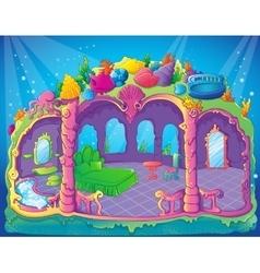 Fairytale Luxury Mermaid Bedroom vector