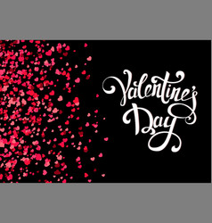 falling hearts on transparent background with vector image