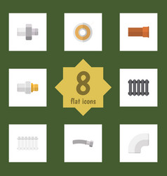Flat icon industry set of roll plastic vector