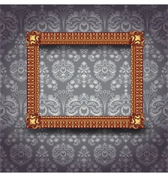 frame on wall vector image