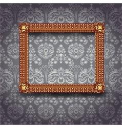 frame on wall vector image