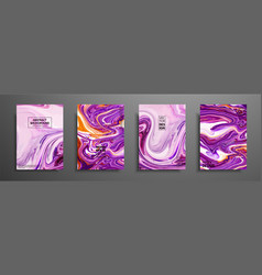 Hand drawn collection card made acrylic vector