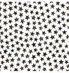 hand drawn doodle star seamless pattern vector image
