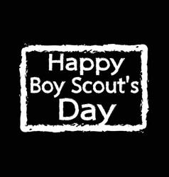Happy boy scout day design vector