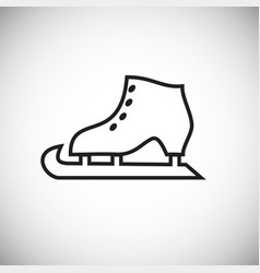 ice skate thin line on white background vector image