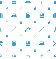 Iron icons pattern seamless white background vector