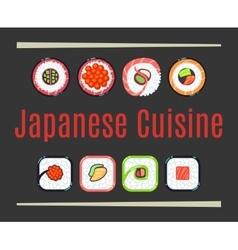 Japanese cuisine restaurant logo template vector
