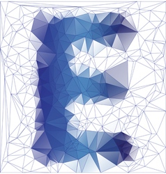 Letter E low poly vector