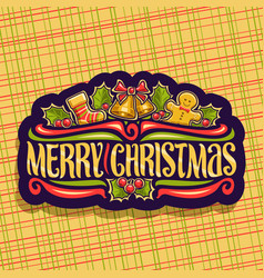 Logo for merry christmas vector