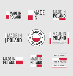 made in poland labels set made in poland product vector image