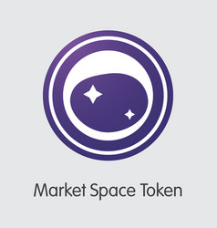 Market space token - cryptographic currency vector