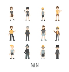 men set eps10 format vector image