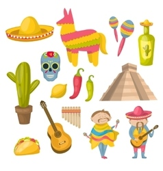 Mexican Icon Set vector image