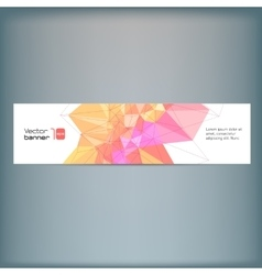 Modern banner with colorful polygonal vector image