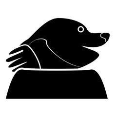 mole black color icon flat style vector image