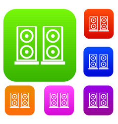 music speakers set collection vector image