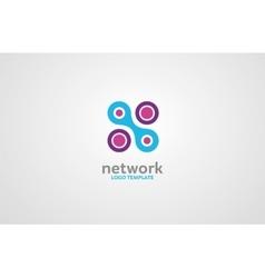 Network logo Digital logo Company network logo vector image