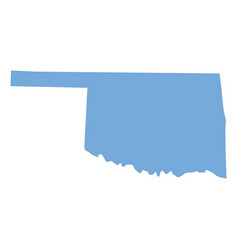Oklahoma state map vector