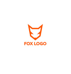 orange line fox logo vector image