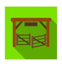 Paddock gate icon in flat style isolated on white vector