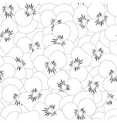 pansy flower seamless background outline vector image