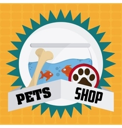 Pet shop design vector image vector image