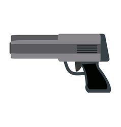 powerful gun caliber forces automatic icon vector image