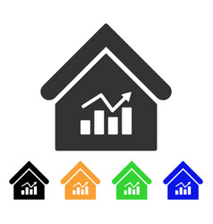 Realty charts icon vector