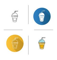 Refreshing soda drink icon vector