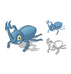 Rhino Beetle Cartoon Character vector image