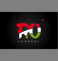 Ro r o alphabet letter logo combination icon vector
