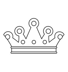 Royal crown icon outline style vector