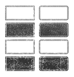 rubber ink stamps shapes grunge black square vector image