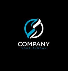 s initial circle logo template vector image
