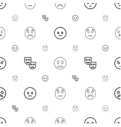Sadness icons pattern seamless white background vector