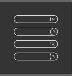 set search bars flat web design elements vector image
