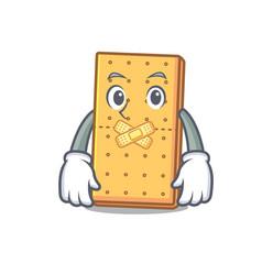 Silent graham cookies mascot cartoon vector