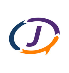 Smart solution letter j vector