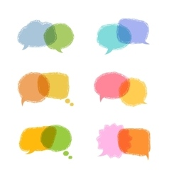 Speech bubbles w vector