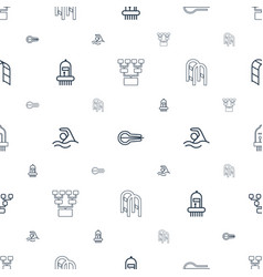 stroke icons pattern seamless white background vector image