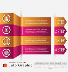 The info graphic vector