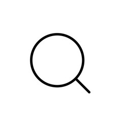 Thin line magnifier icon vector