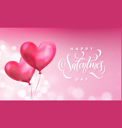 valentines day greeting card valentine red vector image