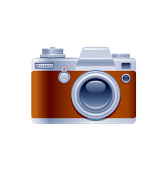 vintage photo camera icon cartoon retro camera vector image