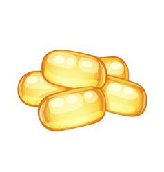 vitamin e capsules cartoon icon isolated vector image