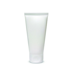 white blank cosmetic tube template on white vector image